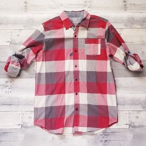 Boys Arizona Button Down Long Sleeve Plaid  Shirt
